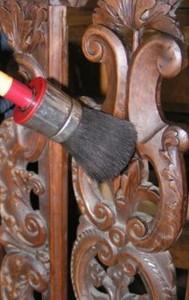Wasafwerking aanbrengen antiek-restaureren